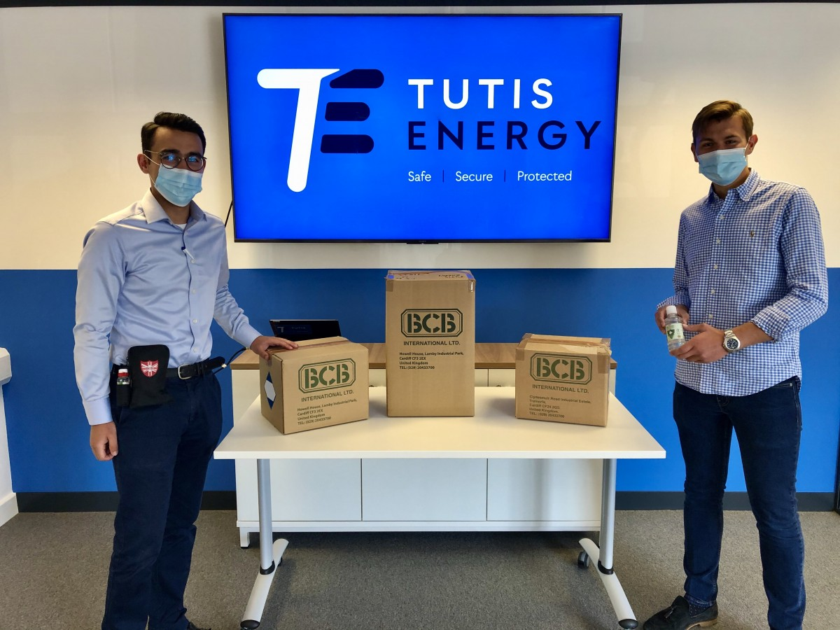 Permalink to Thank you to BCB international for delivering PPE to Tutis Energy